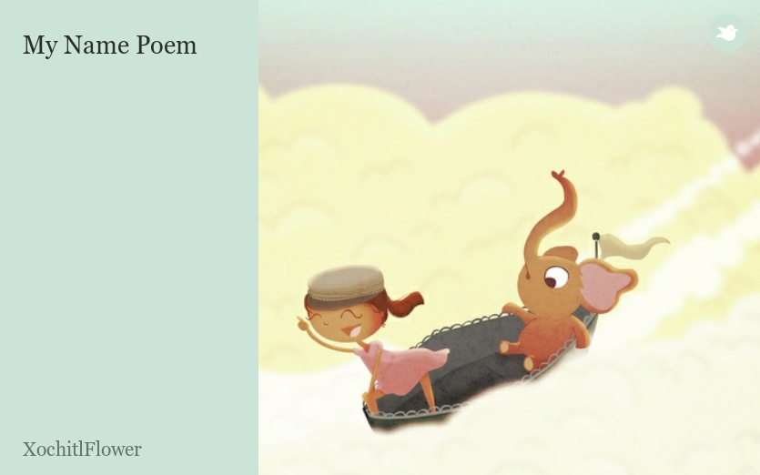 Poetry Book Cover Name : My name poem by xochitlflower storybird