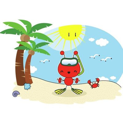 Red Ant at the beach 4