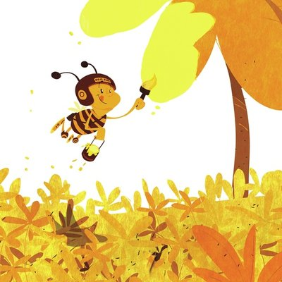 painting bumblebee