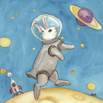 Bunny on the Moon