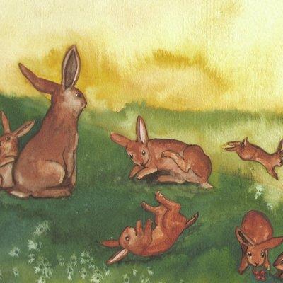 Eight rabbits