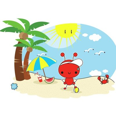 Red Ant at the beach 2