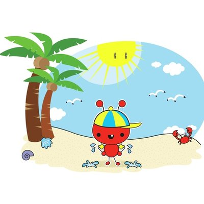 Red Ant at the beach 5