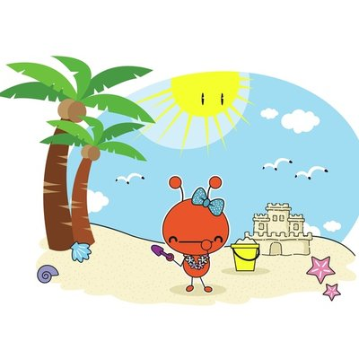 Red Ant at the beach 6