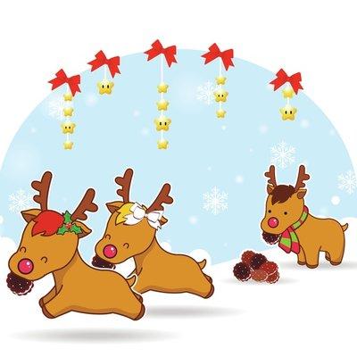 Reindeer Cookie Monsters!