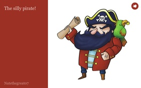 The silly pirate!